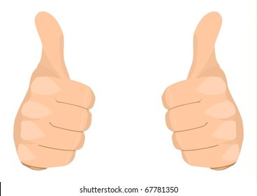 Stock vector of two thumbs up