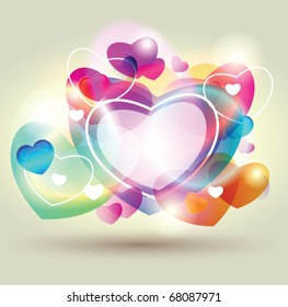 Stock vector valentine heart