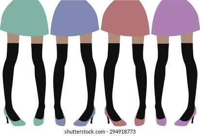 stocking legs vector
