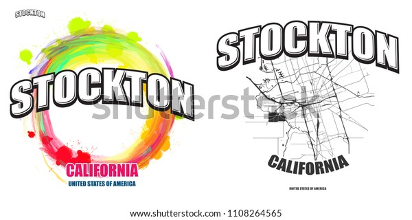Stockton California Logo Design Two One Stock Vector ...