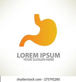 Stomach logo template design on clean background,vector