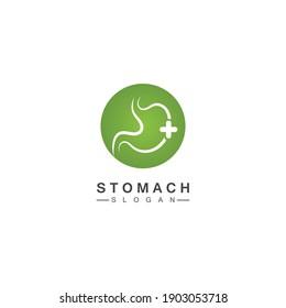 Stomach Logo vector illustration design - creative Gastroenterology Healthy Logo element icon, Stomach healthcare icon vector template