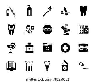Stomatology icon set