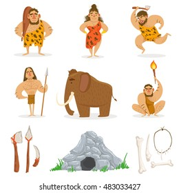 Stone Age Tribe People And Related Objects