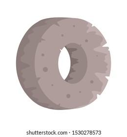 Stone age wheel icon. Flat illustration of stone age wheel vector icon for web design