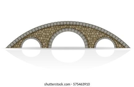 stone bridge stock vector illustration isolated on white background