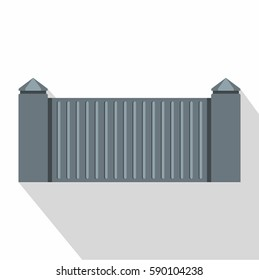 Stone fence icon. Flat illustration of stone fence vector icon for web