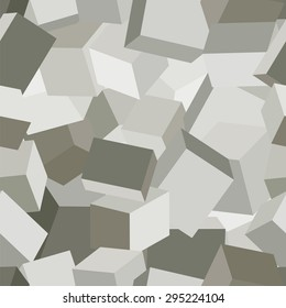 Stone geometric camouflage. For application on clothing, equipment and weapons in the mountains. Seamless vector pattern.