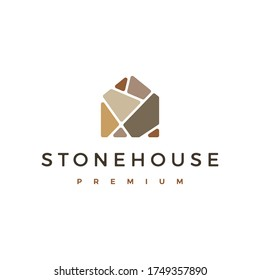 stone house logo vector icon illustration
