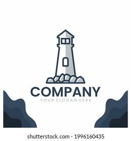 stone lighthouse , logo design inspiration