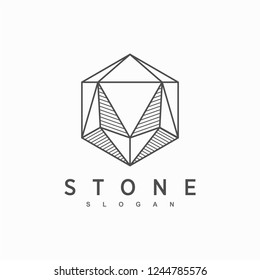 stone logotype, icon and vector, logo for business