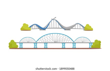 Stone and Metal Bridge as Structure for Spanning Physical Obstacle Vector Set