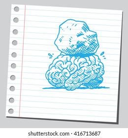 Stone on brain
