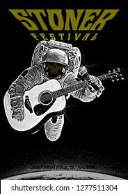Stone Rock Festival Gig Poster Flyer Template