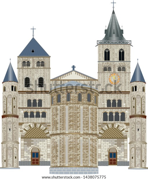 The stone Romanesque basilica on Vrijthof Square is an important, historic, Christian temple.