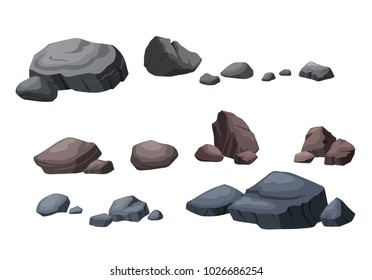 The stone is separated from the white background in many shapes.