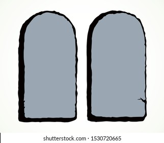 Stone tablets for 10 commandments. Vector drawing