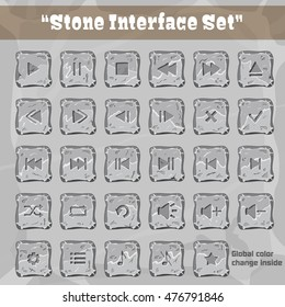 Stone User Interface Set. UI and UX Element. Eps 10