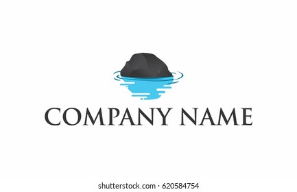 Stone in Water Logo Template