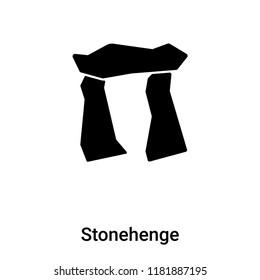 Stonehenge icon vector isolated on white background, logo concept of Stonehenge sign on transparent background, filled black symbol