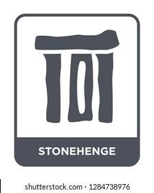 stonehenge icon vector on white background, stonehenge trendy filled icons from Stone age collection, stonehenge vector illustration