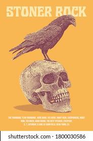 Stoner Rock Gig Poster Flyer Template