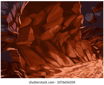 stones. cave. heat