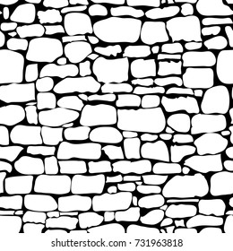 Stones seamless pattern. Vector. Rock Stone wall seamless texture, stonewall background, brick stone wall nature texture, stonewall patten, stone background