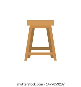 Stool icon for furniture or household equipment company that can be used on brochures, catalogs, web, pattern element, etc.