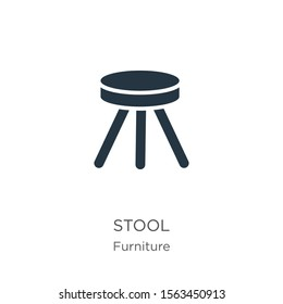 Stool icon vector. Trendy flat stool icon from furniture collection isolated on white background. Vector illustration can be used for web and mobile graphic design, logo, eps10
