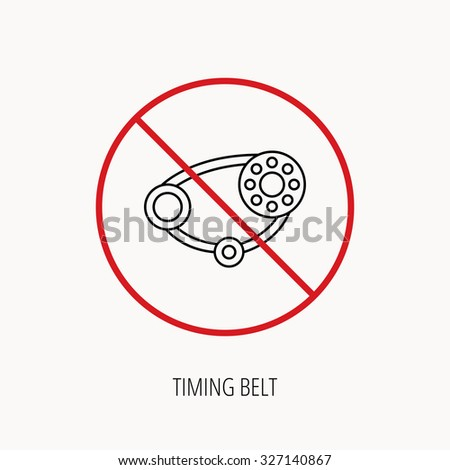 Stop Ban Sign Timing Belt Icon Stock Vector (Royalty Free) 327140867