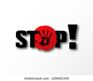 Stop bulling banner . No aggression symbol. Dont heart . Anti bully sexual  harassment