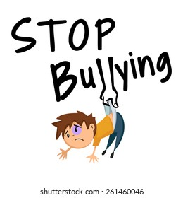 Stop bullying, concept, vector illustration