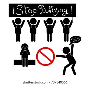 Stop bullying no harassment in vector