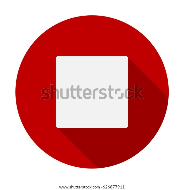 Stop Button Flat Icon Symbol Hand Stock Vector (Royalty Free