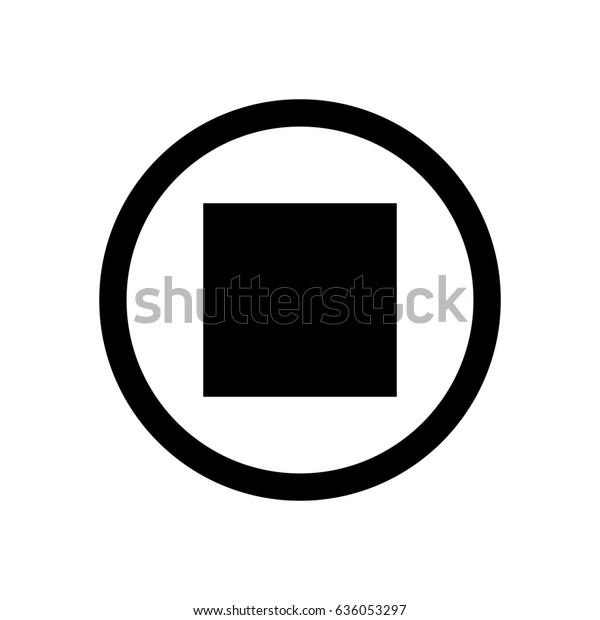 Stop Button Icon Stock Vector (Royalty Free) 636053297