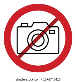 Stop Camera  Line style Vector icon which can easily modify or edit