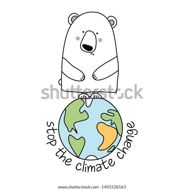Vector De Stock Libre De Regalías Sobre Stop Climate