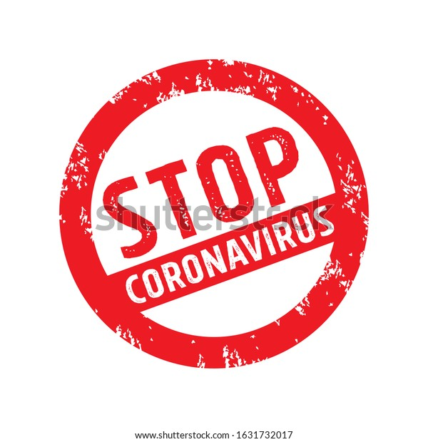 Stop Corona Virus Sign Illustration, 2019-nCoV Tag Label Design Template Vector