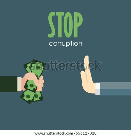 stop corruption businessman refusing offered bribe のベクター画像