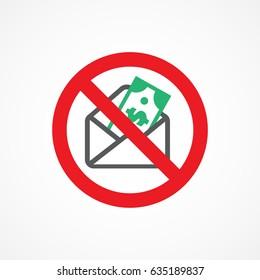 Stop corruption icon