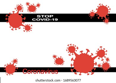 Stop COVID-19 concept with stop covid-19 sign vector illustration. covid-19 prevention design background