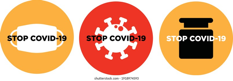 stop covid-19 vaccine please wear mask