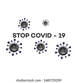 STOP COVID19.Corona logo. The shape of the safety Virus epidemic danger sign vector illustration.
