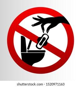 stop, do not sanitary napkins in toilet