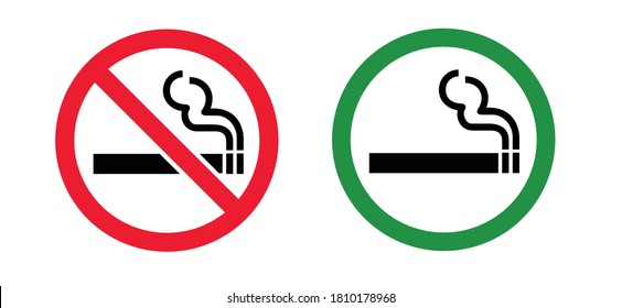 Stop, do not smoke sign Smoke free zone including electronic cigarettes Forbidden no smoking Forbid cigarette tobacco area. Stop halt allowed, no ban. Flat vector signboard. No smoking day