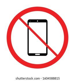 Stop Gadget vector illustration. No smartphone or handphone icon symbol