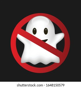stop ghost icon vector funny