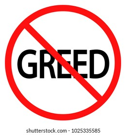 stop greed sign