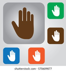 stop hand icon. hand icon
